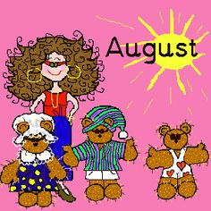 August Holidays (Official) 2013 Monthly, Weekly, Daily, Unknown, Bizarre, Silly, Holidays Observances - for school/craft binder