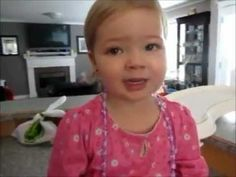 2 year old singing adele :) Cutest thing on this earth!!!