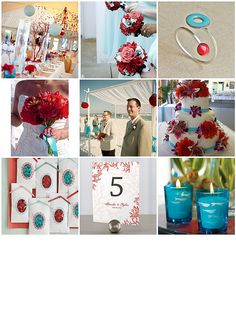 Think I might be in love with this color combo.... I feel like it'd have to be a seaside wedding though :/