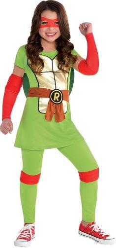 Girls Raphael Costume - Teenage Mutant Ninja Turtles - Party City