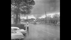 The day the tornado hit...April 2, 1957, Oak Cliff, Dallas, Texas.