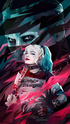 Fan art Harley Quinn y Joker - Suicide Squad Joker Y Harley Quinn, Harley Quinn Drawing, Der Joker, Joker Art, Joker Cosplay, Kate Jones, Hearly Quinn, Superman, The Joker