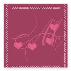Personalize this Monogrammed Romantic Cranberry Red Party Sticker on CafePress.com