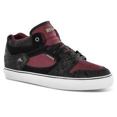 7c1b8edbf2 Emerica Jerry Hsu pro skate shoes montantes black red black 85€ #emerica  #hsu