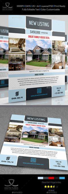 #Real #Estate #Flyer Vol.3 - Commerce Flyers Download here: https://graphicriver.net/item/real-estate-flyer-vol3/3973400?ref=alena994