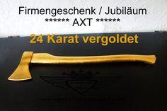 Axt 24 Karat vergoldet.