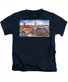 Kids T-Shirt - Munich Cityscape