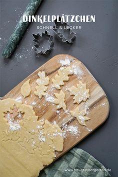 Rezept für schnelle Weihnachtsplätzchen aus Dinkel Teig, die leicht zu backen sind und super toll aussehen.