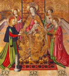 Virgin and Saints - Jaume Huguet.