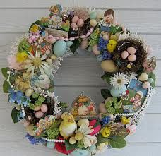 *Vintage 1920's Easter wreath