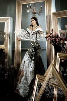 Ana Patricia Asturias in Dave Ocampo Maria Clara Dress Philippines, Philippines Outfit, Philippines Fashion, Philippines Culture, Modern Filipiniana Gown, Filipiniana Wedding, Ball Dresses, Evening Dresses, Filipino Fashion
