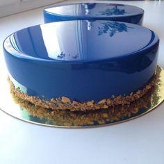 bolo espelho azul escuro