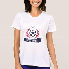 Preppy Football Soccer Custom Player Name & Number T-Shirt - womens sportswear fitness apparel sports women healthy life