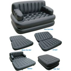 Pure Comfort 5-in-1 Sofa Bed, Black. I'm investing in this for Waka next year. haha.