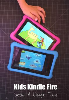Kids Kindle Fire Setup Usage Tips Amazon Kids Tablet, Best Tablet For Kids, Amazon Kindle Kids, Toddler Apps, Toddler Fun, Learning Apps, Kids Learning, Craft Activities For Kids, Infant Activities