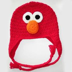 Set of 4 6 8 hats ELMO Handmade Crochet Hats for Party Favors that are practical and fun by HandpickedHandmade, $36.00 Great party favor also comes in bert, ernie, cookie monster, grover and abby cadabby get all one style or a mix of styles!!! Super prices and great handmade quality!!