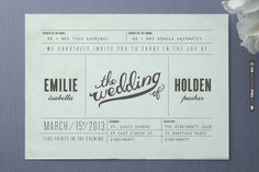 Minimalist Wedding Invitations | WEDDINGPINS.NET | #weddinginvitations2016