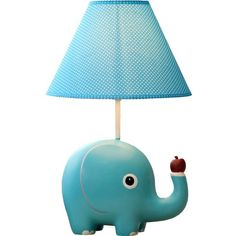 Modern Simple Cartoon Little Elephant Shape Table Lamp Linen Shade ($37) ❤ liked on Polyvore featuring home, lighting, table lamps, modern lighting, comic book lamp, elephant lamp, modern lamps and elephant table lamp