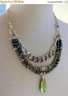 necklace vesuvianite necklace opal necklace green necklace
