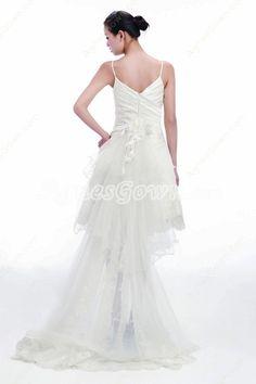 Beach Wedding Dress With Detachable Train