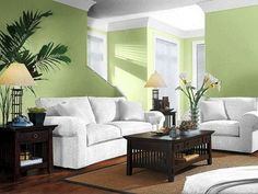 Kombinasi Warna Cat Ruang Tamu Minimalis Living Rooms Green Room Walls