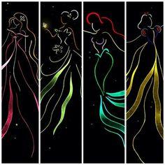 Disney Ribbon Art - ♊️ (Credit: Mandie Manzano @deviantART)
