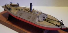 1/250 CSN Weldon Steam Battery Paper Model - Steam - Military - Ships