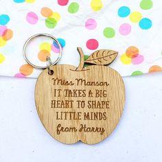 Personalised teachers keyring teacher gift gift by MantaMakesLtd