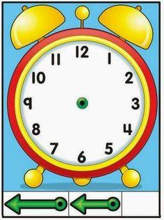 78 Mejores Imágenes De El Reloj Aprender La Hora Aprendizaje Y