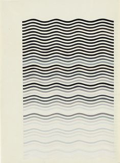 Bridget Riley: Untitled Following Warm and Cold Curves. Courtesy the Trustees of the British Museum London