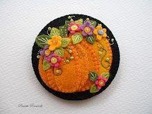 flowery pumpkins pin! halloween-and-fall