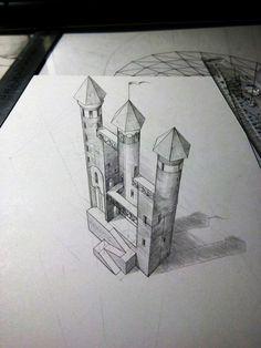 Impossible castle 3D by EvgenyS.deviantart.com on @DeviantArt