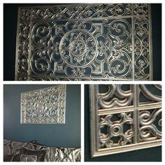 Rubber Door Mat & Rustoleum Wrought Iron Metal Wall Art!