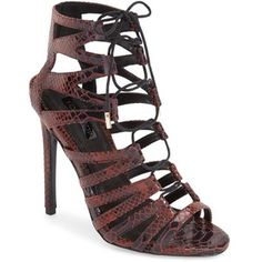 "Topshop 'Rupa' Cage Sandal, 5"" heel"