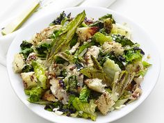 Grilled Chicken Caesar Salad Recipe : Food Network Kitchen : Food Network