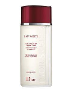 'Eau Svelte' (76 €), de Dior. Loción corporal tonificante.