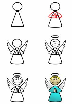 Unique tutorial on how to draw a cute cartoon angel. Use basic shape to create this funny cartoon character! More tutorials (advanced or beginners) can be found on the main site.