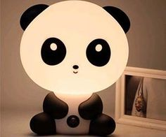 Buy Asian Kawaii Panda Night Light Desk Lamp Cute Cartoon Baby Small Black White Stationary Super Adorable Animal at Wish - Shopping Made Fun