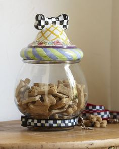 MacKenzie Childs - Treat Jar...I bought this today for a friend who has two small spaniels...she will love it...