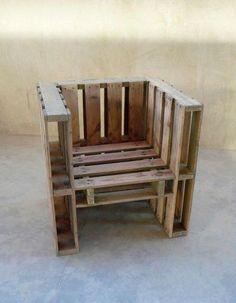 Furniture, DIY: How to Build Outdoor Furniture : how to build outdoor furniture pallet chair Pallet Chair, Pallet Furniture, Home Furniture, Furniture Ideas, Pallet Patio, Table Palette, Palette Deco, Pallet Crafts, Diy Pallet Projects