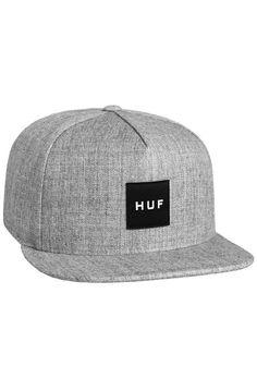 84fc780eb2c HUF Hat Box Logo Snapback Gray Heather Gray