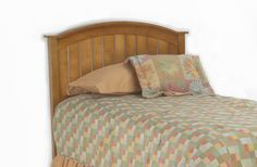 The Finley Twin Headboard is made of poplar wood. Find the best in bedroom furniture for kids and teens at StacksandStacks.com.