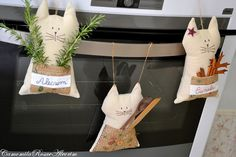 CamomilaRosa e Alecrim: Tenho gatos na cozinha...