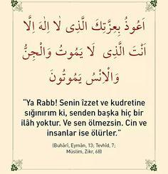 ☝ Ya rabb! Senin izzet ve kudretine sığınırım ki senden başka hiç bir ilah yoktur. Ve sen ölmezsin. Cin ve insanlar ölürler.  #dua #hadis #islam #müslüman #amin #ilah #sen #ölüm #insanlar #cin #izzet #sende #ilmisuffa