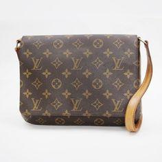 Louis Vuitton Musette tango Monogram Shoulder bags Brown Canvas M51257