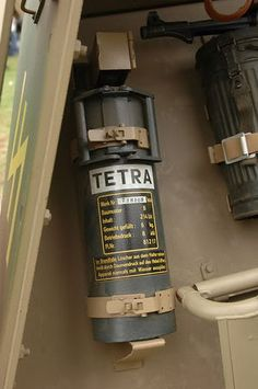 Details of a fire extinguisher used in German Panzer vehicles