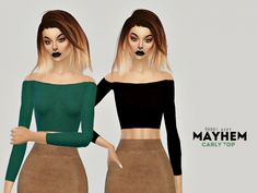 Carly Crop Top at Mayhem Fashion via Sims 4 Updates Check more at http://sims4updates.net/clothing/carly-crop-top-at-mayhem-fashion/