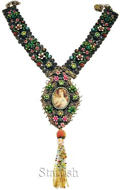 Michal Negrin Victorian Style Cameo Lace Necklace | eBay