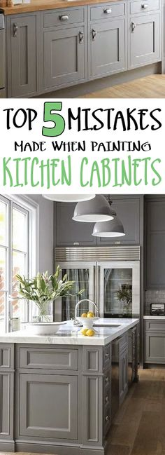 Learn how to get professional kitchen cabinets by learning from others mistakes.