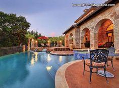 Luxury backyard with pool